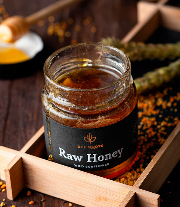 BeeRoots Raw Honey